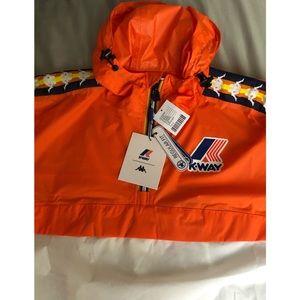 Kappa X K Way Le Vrai Leon Popover Jacket   Jacken